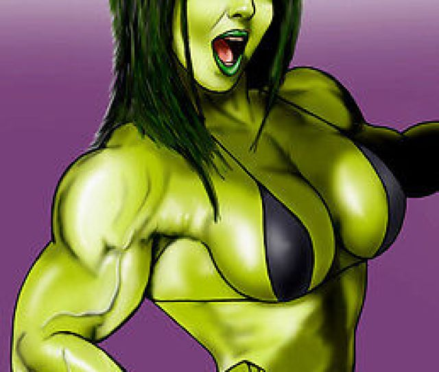 She Hulk Wink Sexy Marvel Comics Art Muscle Fit X Pinup Print