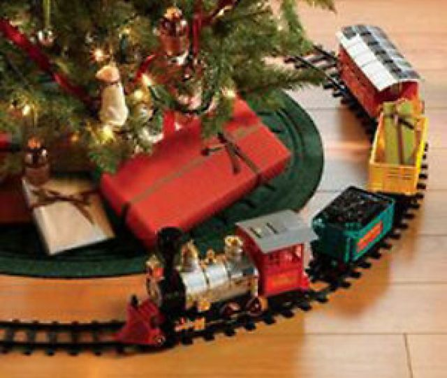Image Is Loading Christmas Under Tree Classic Express Train Set Traditional
