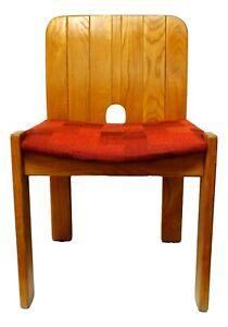 153,70 € 138,30 € pronta consegna. Sedia In Legno Di Design Anni 70 Vintage Gavina Zanotta 6 Esemplari Disponibili Ebay