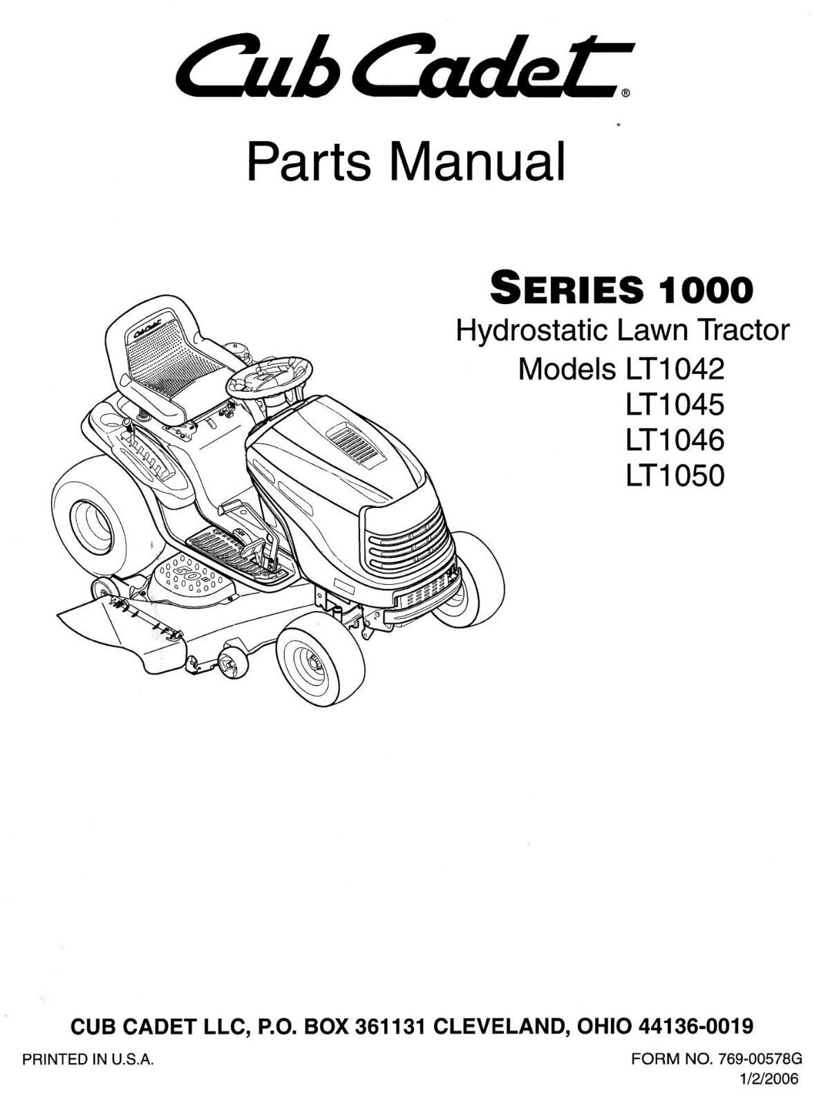 hight resolution of cub cadet parts manual for lt1042 lt1045 lt1046 lt1050 for sale cub cadet parts diagram lt1045 cub cadet parts diagram