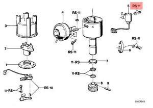 Genuine BMW E12 E21 E23 Ignition Distributor Parts Repair