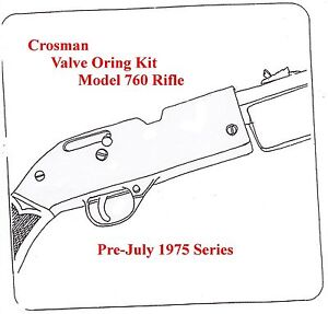 Crosman 760 Rifle Pre-July 1975 Series REBUILD RESEAL O
