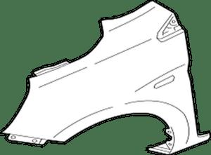 5220G512 Mitsubishi Fender, fr rh 5220G512, New Genuine