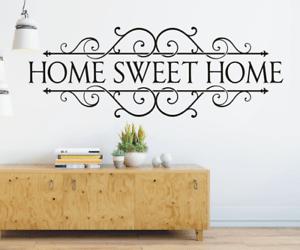 details zu x4645 wandtattoo spruch home sweet home zuhause flur sticker wandaufkleber bild