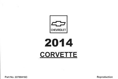 2014 Chevrolet Corvette Z51 1LT C7 USA Owner's Owners