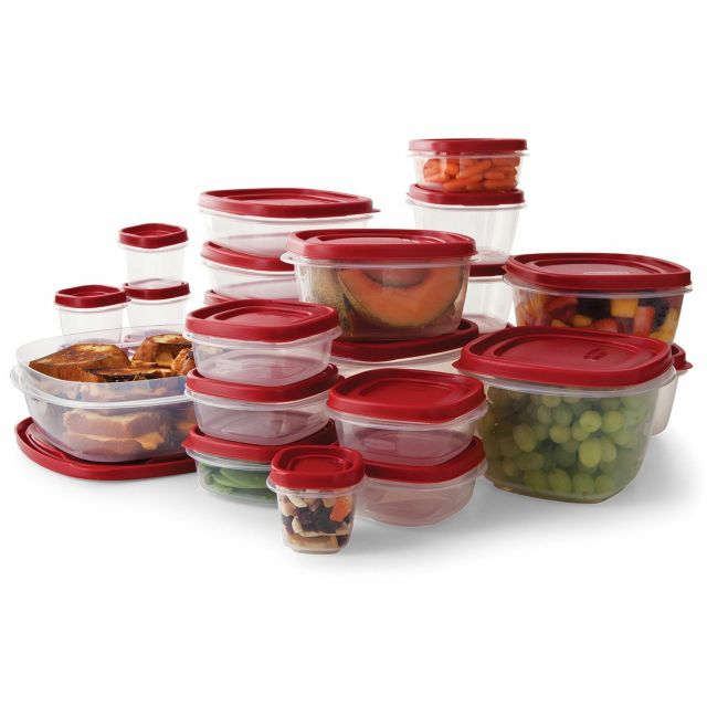 Rubbermaid 50-Piece Easy Find Lids Food Storage Set NEW NEW NEW 2
