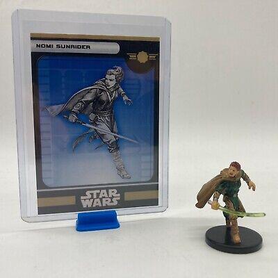 Star Wars Miniatures Nomi Sunrider 1/60 Legacy Of The Force VR Card RPG Legion   eBay