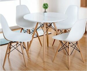 white round kitchen table sink cabinets como dining with solid beech wood legs top image is loading