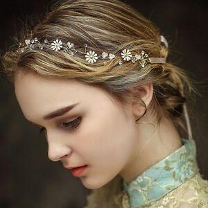 image is loading bridal rhinestone crystal pearl wedding hair band vintage