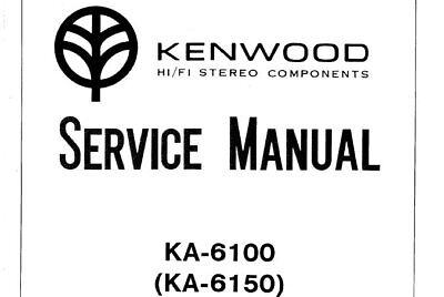 KENWOOD KA-6100 KA-6150 SERVICE MANUAL BOOK ENGLISH STEREO