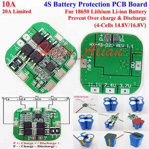 4s bms wiring diagram fungus cell labeled 10a protection board li ion lithium 18650 battery pcb circuit image is loading