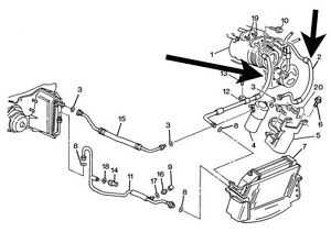 Air Conditioning,AC,Compressor Hose,C4 Corvette,1994,95,96