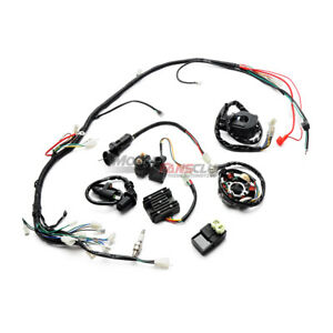 Electric Wiring Harness Coil Stator For ATV Quad Go Kart