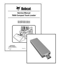 Bobcat T650 Compact Track Loader Workshop Service Manual