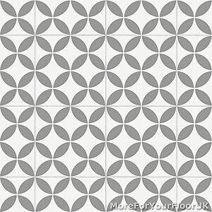 details about grey retro victorian tile pattern vinyl flooring kitchen bathroom lino 2m 3m 4m