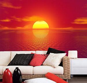 details sur 3d coucher soleil 7 photo papier peint en autocollant murale plafond chambre art