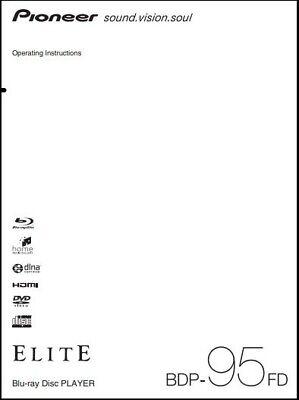 Pioneer Elite BDP-95FD Blu-ray Player Owner's Manual