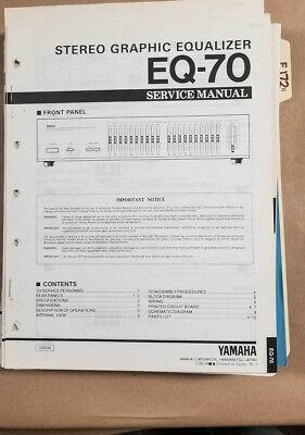 Yamaha Eq 70 : yamaha, Yamaha, EQ-70, Equalizer, Service, Manual, *Original*