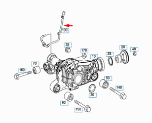 NEW MERCEDES-BENZ GLE W166 TRANSMISSION BREATHING VENT