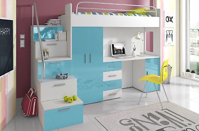 Brand New Children Sleeper Bunk Kids Bed Storage Desk Wardrobe Kmr4 Ebay