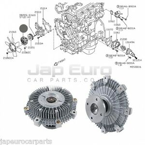 Fit NISSAN NAVARA PATHFINDER 2012> 2.5i VISCOUS FAN