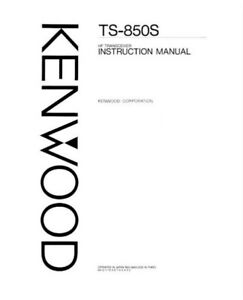 INSTRUCTION MANUAL PHOTOCOPY for the KENWOOD TS-850S