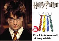 Harry Potter Costume Skinny Elastic Neck Tie Necktie Boys