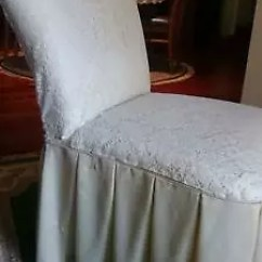 Bedroom Chair With Skirt Rio Big Kahuna Beach Vanity Retro Draped Pleated Lacey Look