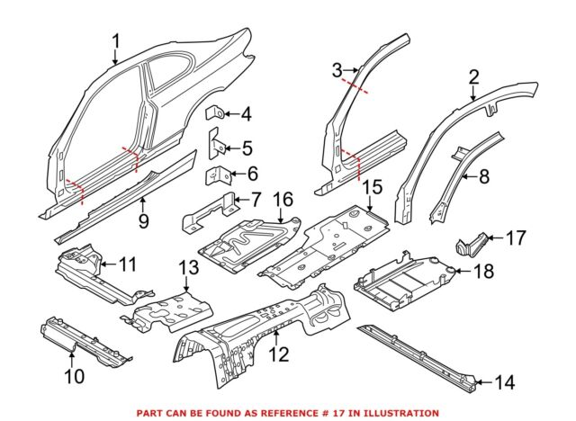 Buy BMW 51757164291 Genuine OEM Underbody Shield E90 Rear