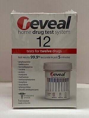 REVEAL HOME DRUG TEST SYSTEM 12 TEST NEW/SEALED EXP 9/2021 ...