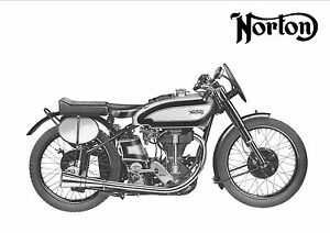NORTON Poster Manx 1946 1947 1948 1949 Suitable to Frame