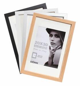 Details Zu Bloc Bilderrahmen In 13x18 Bis 50x70 Natur Schwarz Silber Weiß Holz Foto Rahmen