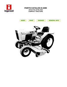 Ingersoll COMPACT LAWN TRACTORS 3118 4116 4118 4120 Repair