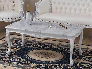 details sur table basse de salon megan style baroque moderne blanc laque et feuille argent m
