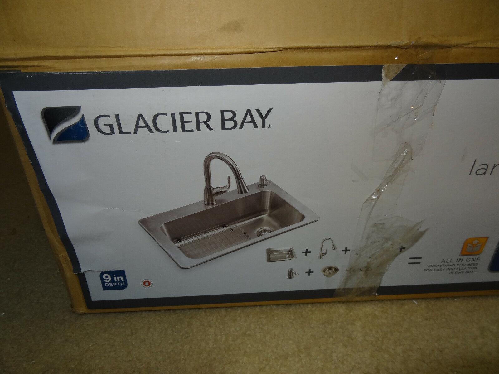 glacier bay 18 gauge single bowl stainless steel kitchen sink model vt3322d1