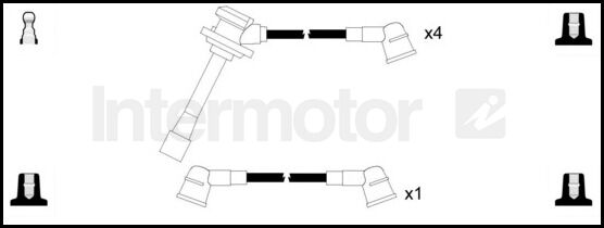 76306 ignition cable kit leads for KIA CLARUS 2.0 FE 16V