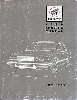 Buick Century 1989 Original Factory Shop Manual 55mm Thick