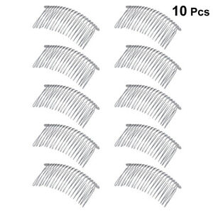 10pcs Metal Hair Clip Combs Iron Wire Women Twist Veil