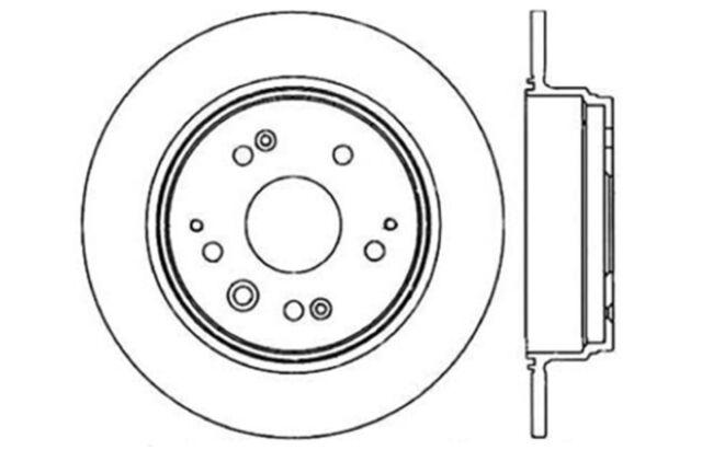 Rear Left Brake Rotor For 1999-2003 Acura TL 2002 2001