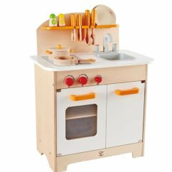 Kids Wooden Kitchen Office Table And Chairs Gourmet Chef Cookware Set Pretend Play Toy Award Hape E8116