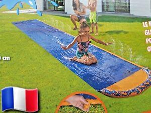 details sur tapis de glisse bleu jeu d eau glissad ventrglisse pour enfant 600x100 cm