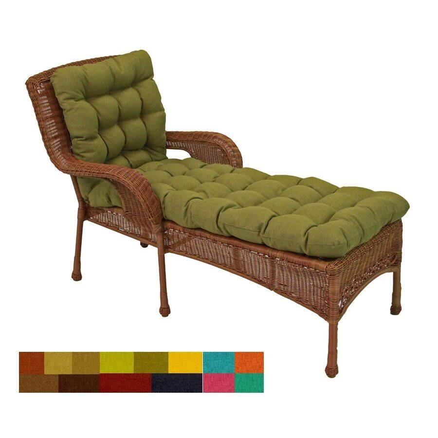 Outdoor Chaise Lounge Chair Cushions Porch Yard Patio Deck