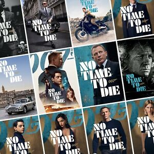 details about james bond no time to die movie photo print poster 007 cast art character film