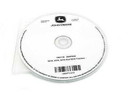John Deere 5210/5310/5410/5510 Tractor Technical Manual CD