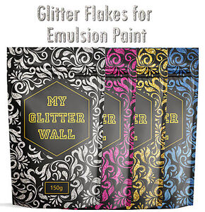 Glitter Wall Paint Additive For Emulsion Bedroom Kitchen Walls