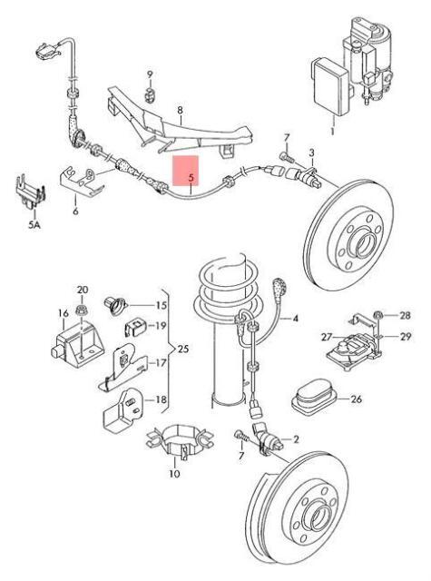 Genuine VW Beetle Cabrio Wiring Harness For Speed Sensor