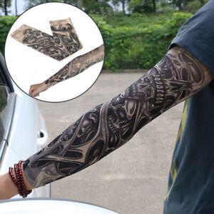 Mangas Del Tatuaje Falso De La Moda Temporal Elástico Brazo Para