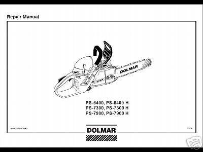 Dolmar Chainsaw Service Shop Repair Manual PS-6400 PS-7300