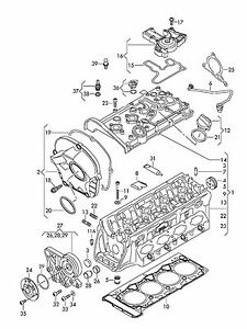 GENUINE VW AUDI 06H103483C ENGINE TIMING Chain COVER