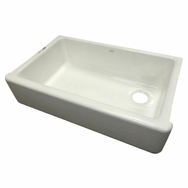 kohler k 6489 0 whitehaven 36in tall apron front single basin sink